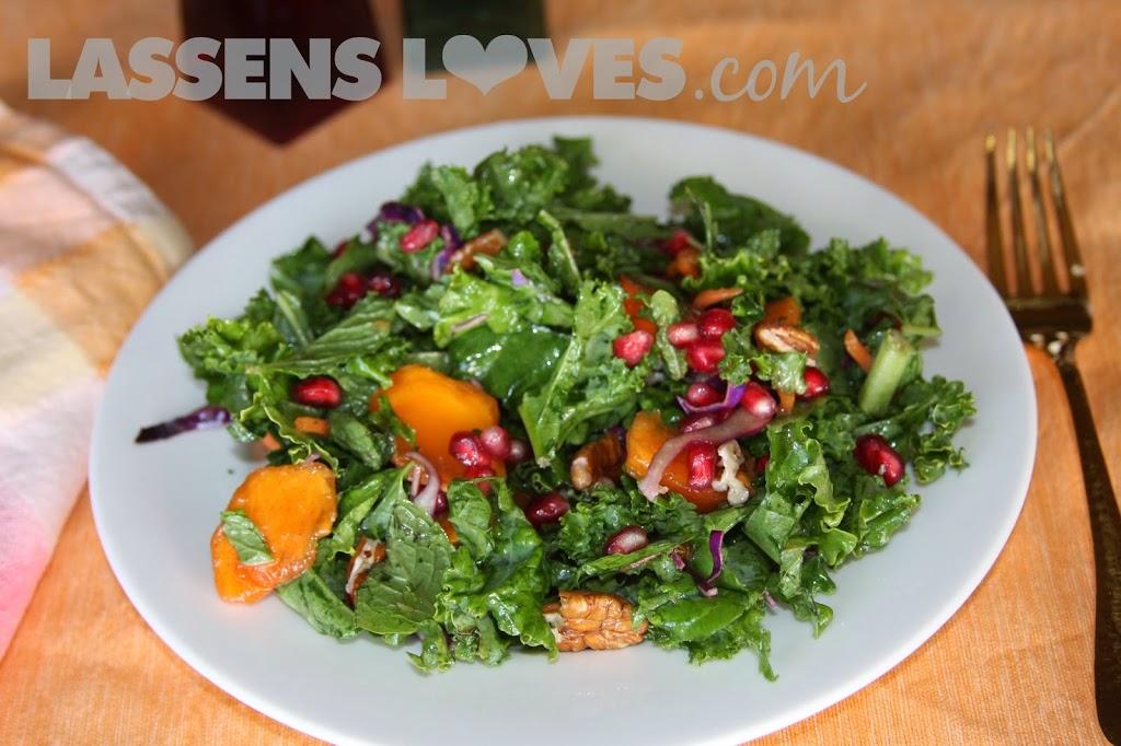 kale+salad, pomegranate+recipes, persimmons+recipes