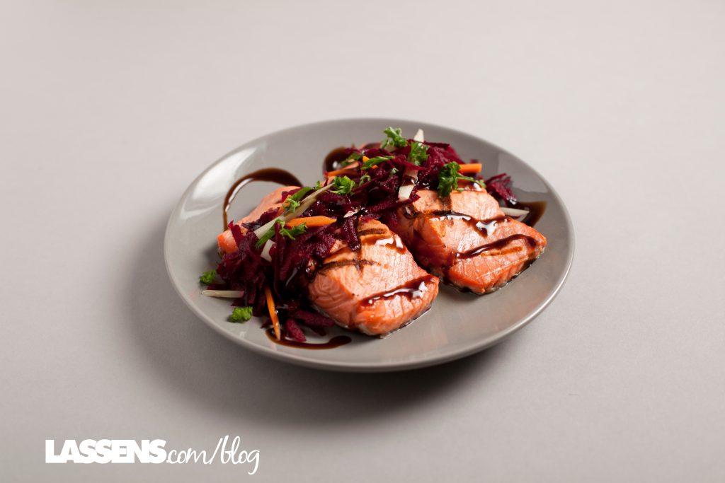 almon, heart+healthy, salmon+recipes, Omega+3s, beet+slaw, healthy+beets