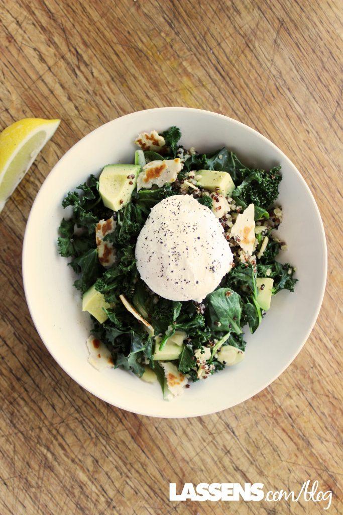 Warm+breakfast+salad, healthy+salad, warm+salad, salad+with+egg, breakfast+salad