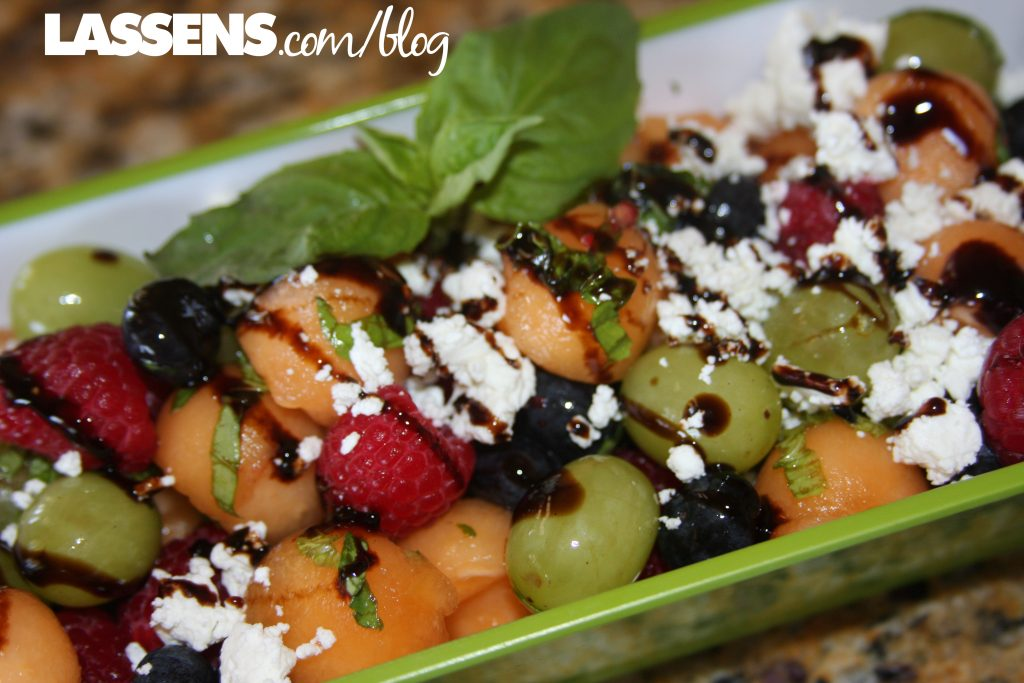 Melon+salad, summer+salad, healthy+fruit+salad